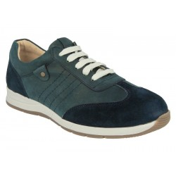 Suede/nubuck sneakers for wider feet DB Shoes 79397N 2 V