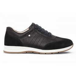 Suede/leather trainers for wider feet DB Shoes 79397A 2 V