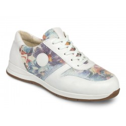 Leather sneakers for wider feet DB Shoes 78455W 2 V