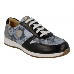 Leather trainers for wider feet DB Shoes 78455N 2 V