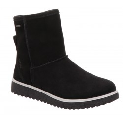 Black suede winter low boots GORE-TEX Legero 3-00654-00
