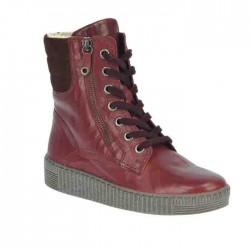 Winter lace up low bordeaux boots (with zipper) Gabor 93.733.74
