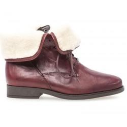 Зимние бордовые ботинки на шнурках Gabor 92.736.28