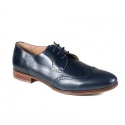 Синие мужские туфли большого размера без шнуровки Jandre 6261-A218 navy