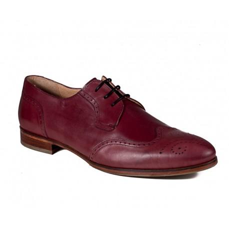Мужские туфли большого размера без шнуровки Jandre 6261-A218 bordo