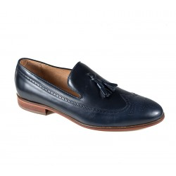 Синие мужские туфли большого размера без шнуровки Jandre 2554-A218 navy