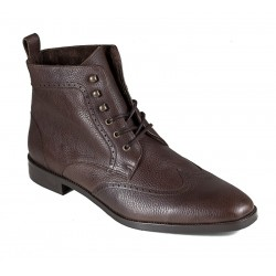 Men's big size brown boots with little warming  Jandre 4656-A233