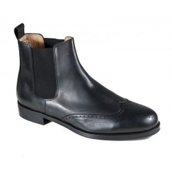 Men's big black Chelsea boots  Jandre 4659