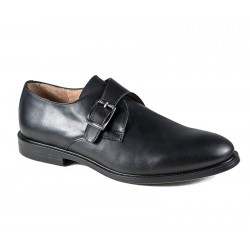 Men's big size  black shoes with a buckle Jandre 3159