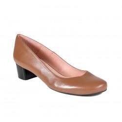 Store størrelser kvinners brun sko, medium hæl XAIRA XA0195