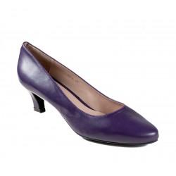 Big size women's purple shoes kitten heel XAIRA XA0016