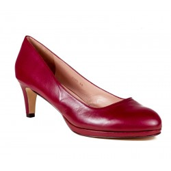 Big size women's bordeaux shoes medium heel XAIRA XA0105