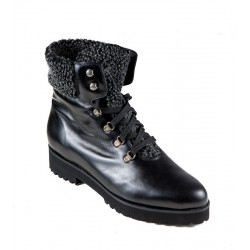 Big size winter low boots PieSanto 185746 negro