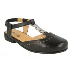 Brede sandal med lukket tå DB Shoes 78463A 4E