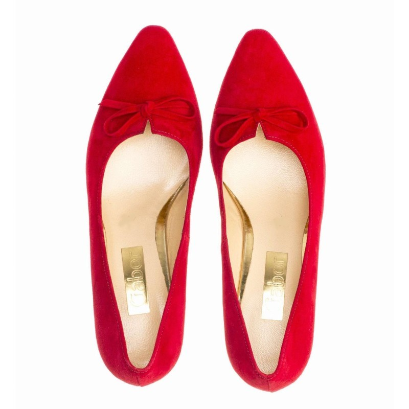 Red suede shoes Gabor 25.147.15