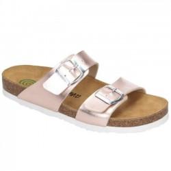 Womens Slide flip flops Brinkmann 700993 rosa