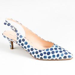 Sieviešu sandales uz vidēja papēža ar slēgtu purngalu Brenda Zaro T2826