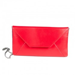 Women's natural leather clutch bag Brenda Zaro Nappa Lipstick