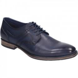 Formal men's big size blue shoes Manitu 650540