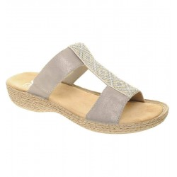 Womens Slide flip flops Rieker 65882-91