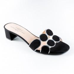 Slide flip flops medium heel Brenda Zaro T3113