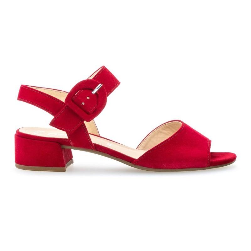 moderner Stil große Auswahl große Auswahl Red suede sandals Gabor 21.702.15 - Apavi40plus