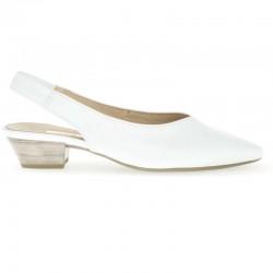 Белые сандалии с закрытым носом Gabor 25.630.21