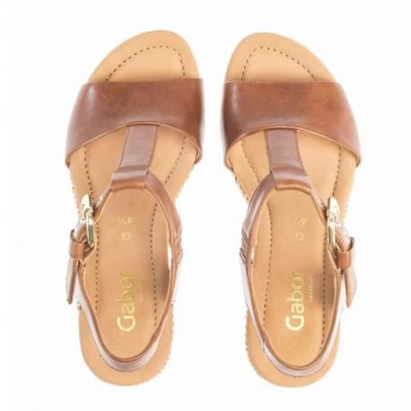 Brūnas sieviešu platformas sandales Gabor 22.824.54
