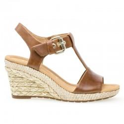 Brun sandaler med kilehæl Gabor 22.824.54