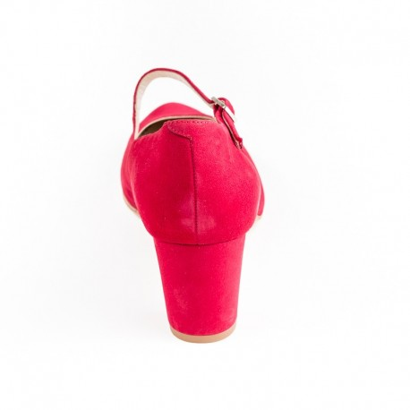 Big size women's red suede shoes PieSanto 190227 rojo
