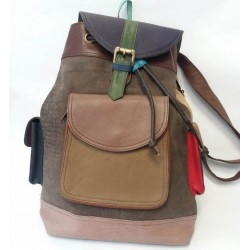 Backpack from natural leather Soruka Zero waste 047010