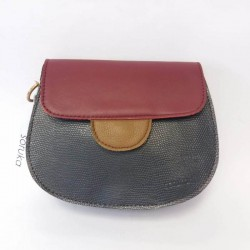 Shoulder bag from natural leather Soruka Zero waste 087271