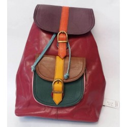Backpack from natural leather Soruka Zero waste 687456
