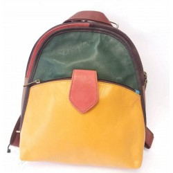 Backpack from natural leather Soruka Zero waste 047054