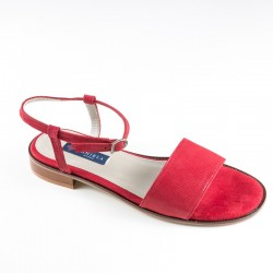 Women's big size red sandals Daniela 19012