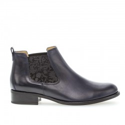 Autumn Chelsea low blue leather boots Gabor 31.640.56