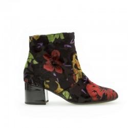 Осенние, демисезонные бархатные ботинки Gabor 35.810.57