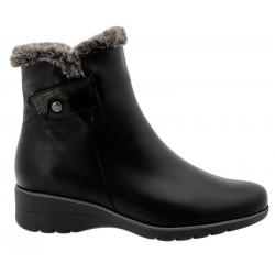 Big size winter low boots PieSanto 195974 natural negro