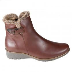 Store størrelser kvinners vinterstøvletter PieSanto 195974 natural nogal