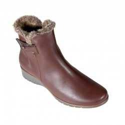 Big size winter low boots PieSanto 195974 natural nogal