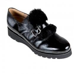 Store størrelser kvinners loafer sko PieSanto 185661 negro