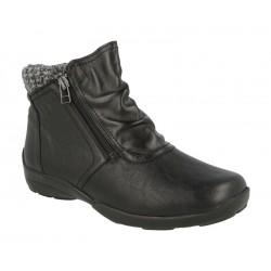Широкие демисезонные ботинки DB shoes 70734A Black ширина 6E