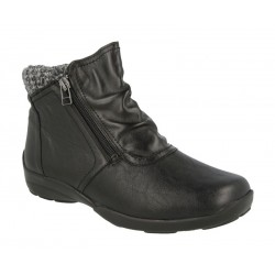 Very wide Ankle Boots DB shoes 70734A Black 6E width