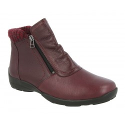 Very wide Ankle Boots DB shoes 70734R Burgundy 6E width