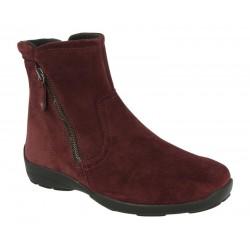 Brede støvletterr DB shoes 70503R burgun 6E bredde