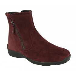 Широкие демисезонные ботинки DB shoes 70503R burgun ширина 6E
