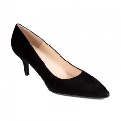 Women's black suede high heels Brenda Zaro T1406AK