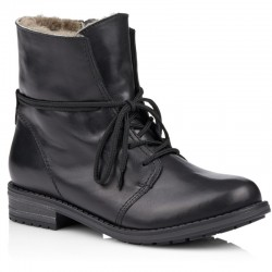 Big size winter ankle boots with genuine sheepskin Remonte R5072-01