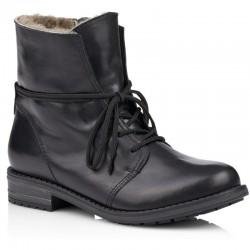Store størrelser kvinners vinterstøvletter med ekte saueskinn Remonte R5072-01