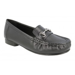 Extra wide fit women's moccasins DB Shoes 70350A 6V